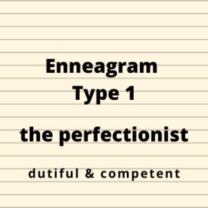 Enneagram Type 1